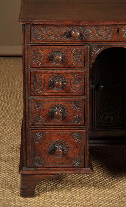 Antiker britischer Schreibtisch Eiche ca 1900