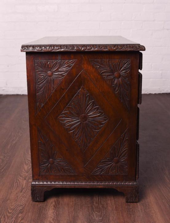 Antiker britischer Eichen Schreibtisch 18. Jh