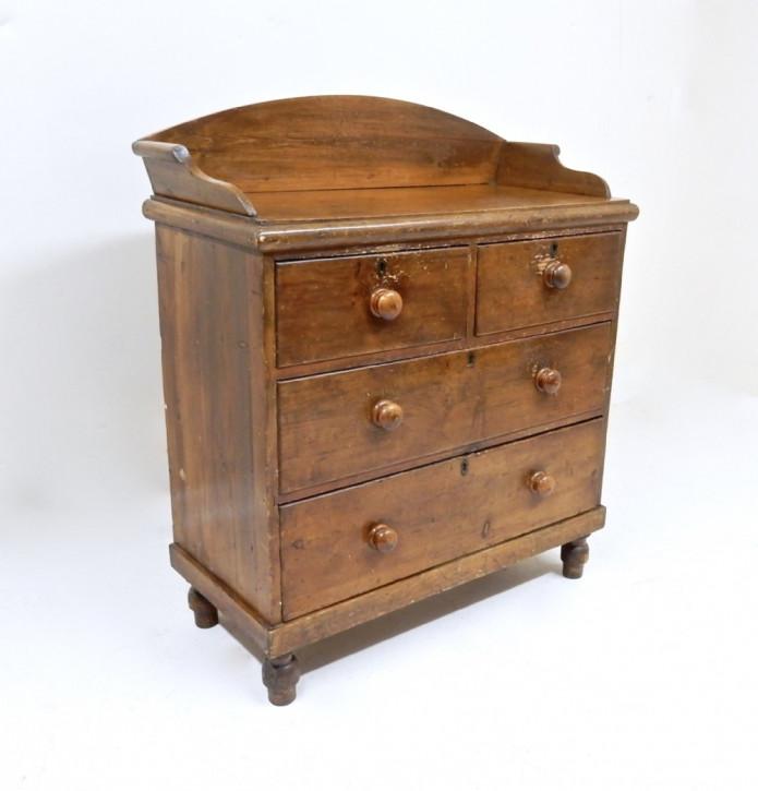 Antike britische Weichholz Kommode Kiefer ca 1880