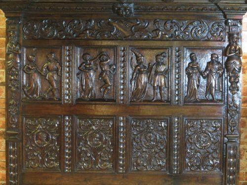 Antikes englisches Queensize Himmelbett Massivholz Posterbett 19. Jh
