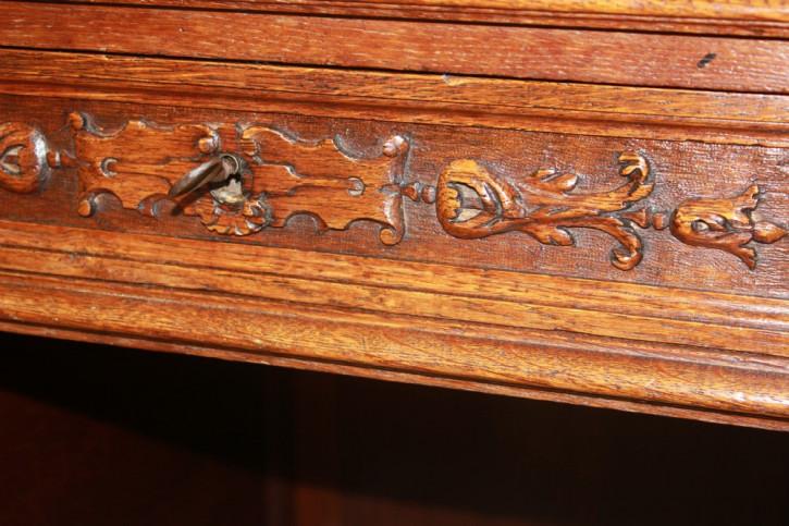 Antiker britischer Eichen Schreibtisch ca 1880