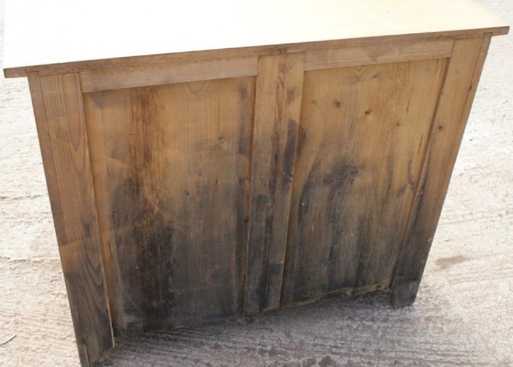 Antikes deutsches Kiefern Sideboard Weichholz Schrank 19. Jh