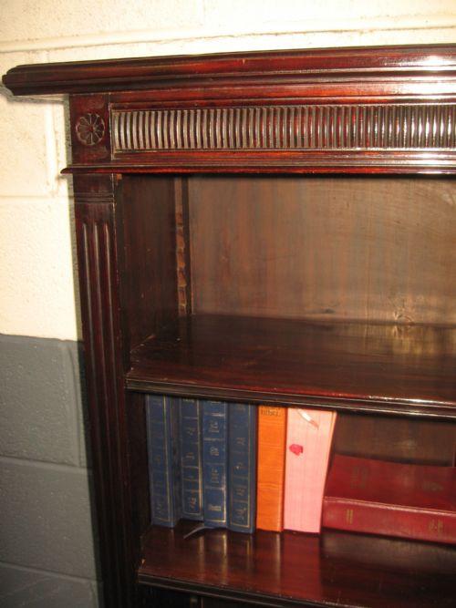 Viktorianisches antikes Mahagoni Bücherregal britisch ca 1900