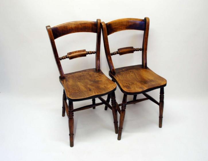 Viktorianische antike Ulmen Buchen Stühle britisch ca 1860