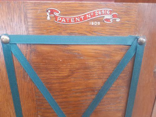 Edwardianischer antiker Eichen Schreibtisch englisch ca 1890