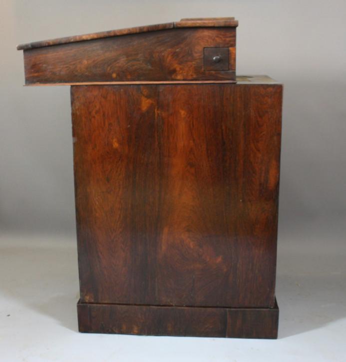 Antiker britischer Regency Davenport Schreibtisch Palisander ca 1800