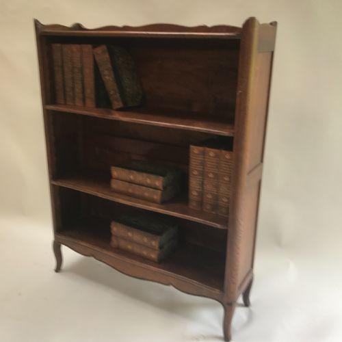 Französisches antikes Massivholz Bücherregal ca 1900
