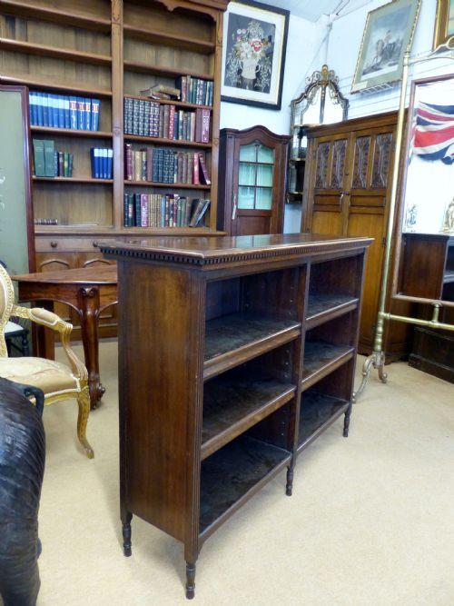 Edwardianisches antikes Eichen Bücherregal britisch ca 1900