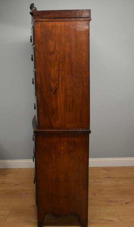 Antike britische Regency Mahagoni Kommode Bowfront ca 1810