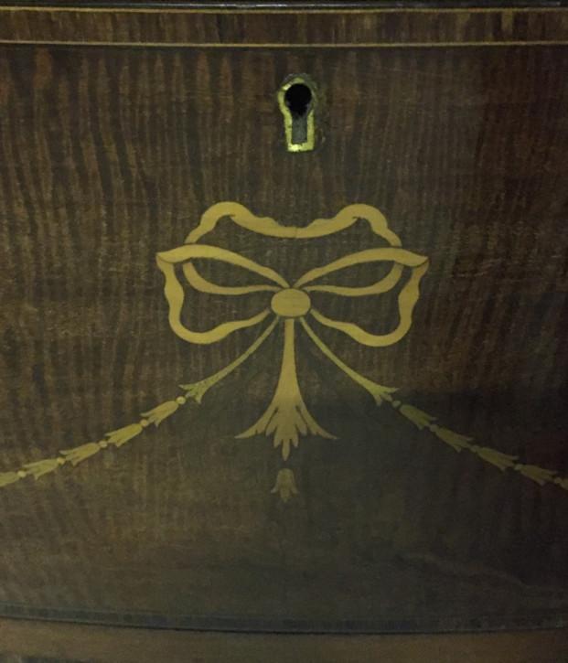 Edwardianische antike Mahagoni Kommode Bowfront britisch ca 1910