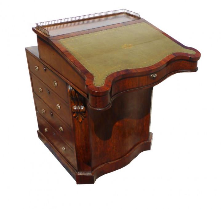 Antiker britischer Palisander Schreibtisch Davenport Regency ca 1810