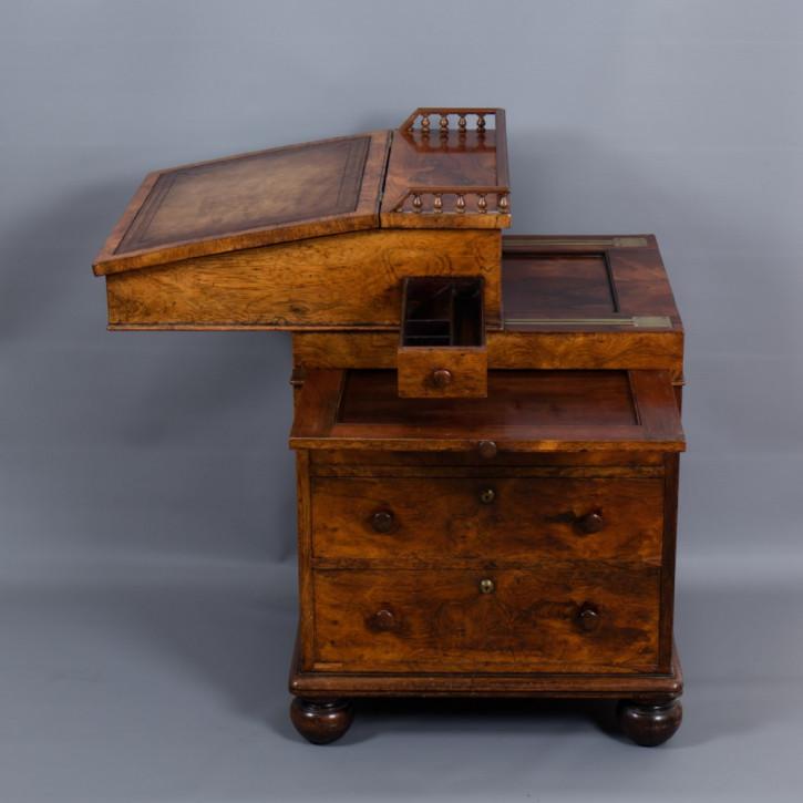 Georgianischer antiker Davenport Schreibtisch Palisander britisch ca 1825