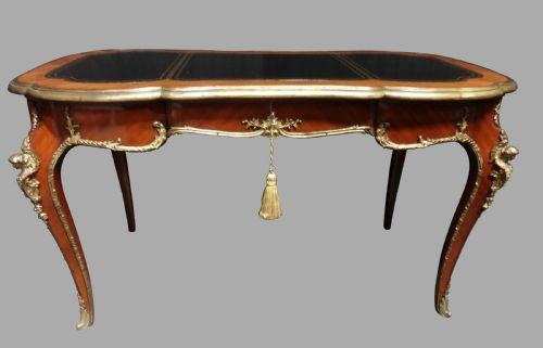 Antiker französischer Kingwood Schreibtisch ca 1920