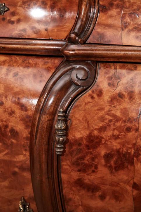 Französisches Nussbaum Sideboard original antik ca 1900