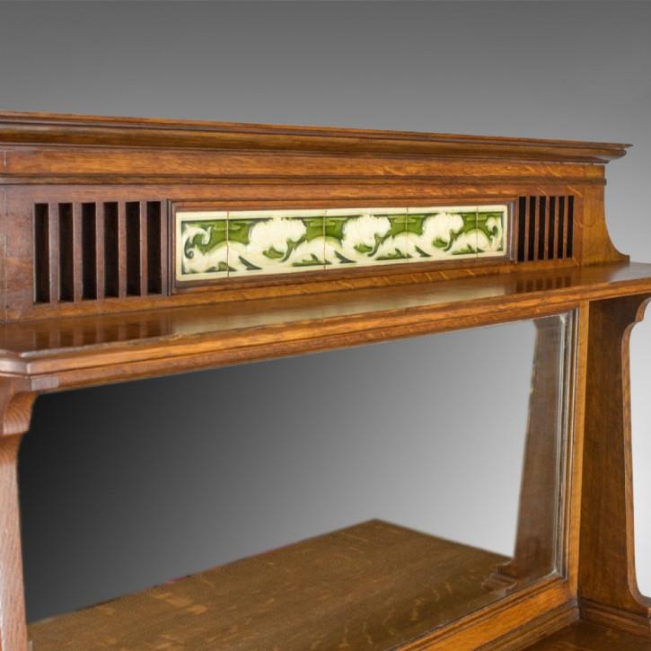 Antikes Arts & Crafts Sideboard Eiche britisch ca 1900