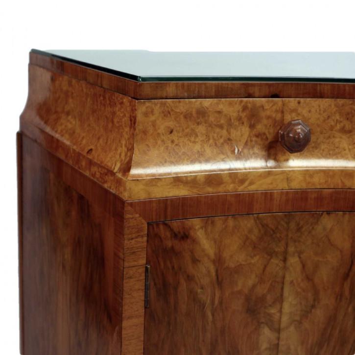 Art Deco Sideboard Nussbaum antik britisch ca 1930