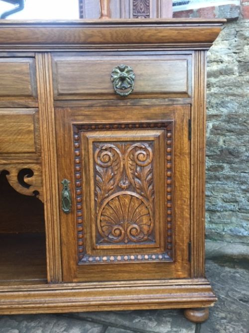 Viktorianisches antikes Eichen Sideboard britisch ca 1860