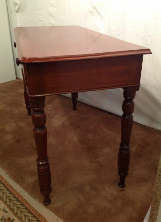 Viktorianischer antiker Mahagoni Schreibtisch englisch ca 1890