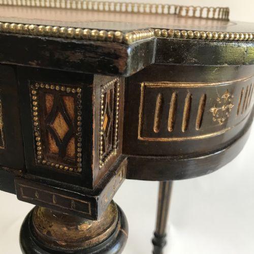 Antiker britischer Ebenholz Schreibtisch ca 19. Jh
