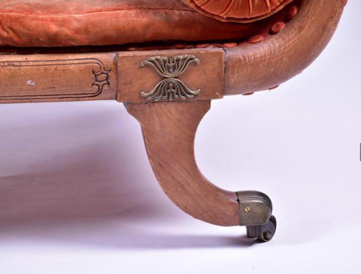Antike britische Regency Mahagoni Chaiselongue ca 1810