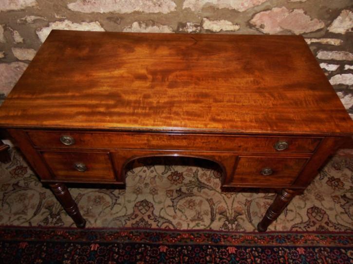 Georgianischer antiker Mahagoni Frisiertisch Schreibtisch ca 1825