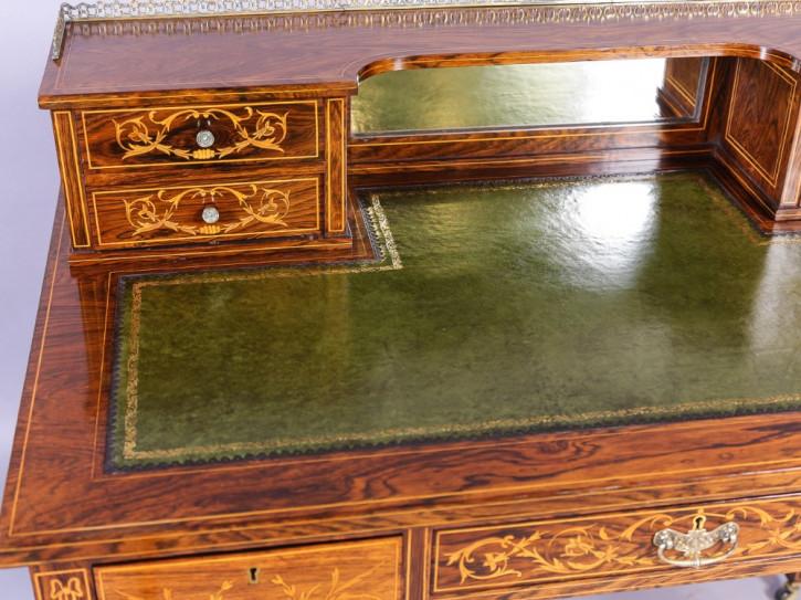 Antiker britischer Palisander Schreibtisch Ladies Desk ca 1890