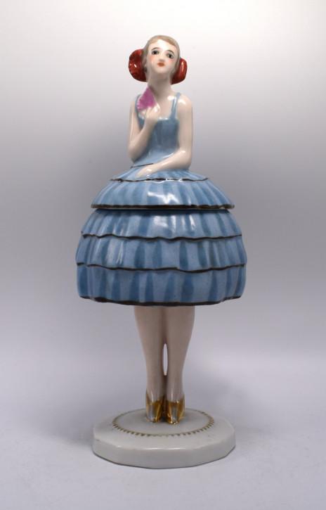 Art Deco Antike Französische Bonboniere aus Keramik ca. 1930