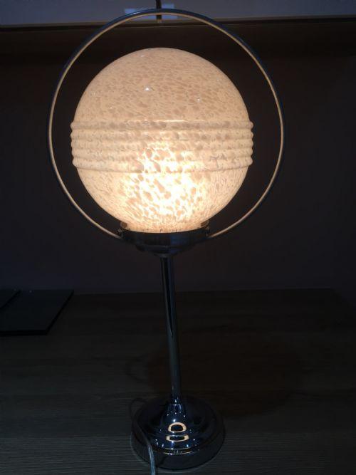 Antike Art Deco Tischlampe Chrom britisch ca 1930