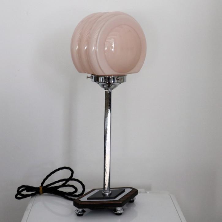 Antike Art Deco Tischlampe Chrom englisch ca 1930