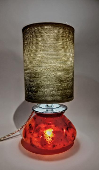 Englische Art Deco Glaslampe Tischleuchte WMF antik ca 1930