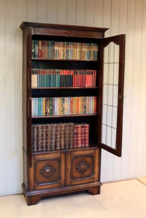 Antiker britischer Eichen Bücherschrank ca 1920