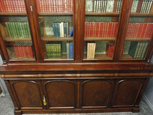 Viktorianischer antiker Mahagoni Bücherschrank Landhaus britisch ca 1880