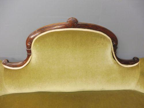 Viktorianisches antikes Palisander Sofa Stoff englisch ca 1880