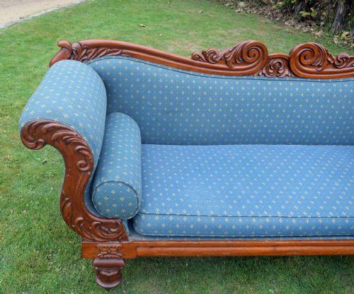 Antikes britisches Mahagoni Sofa Stoffsofa Couch ca 19. Jh