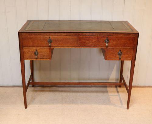 Antiker britischer Eichen Schreibtisch ca 1920