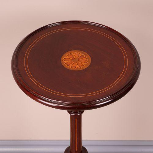 Antiker original britischer Mahagoni Beistelltisch ca 1900