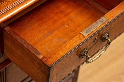 Viktorianischer antiker Mahagoni Schreibtisch britisch ca 1860