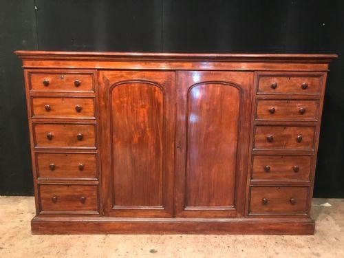 Antike britische Mahagoni Garderobe Sideboard ca 1860