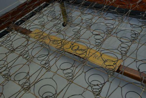 Antikes britisches Art Deco Messing Bettgestell Doppelbett 1920