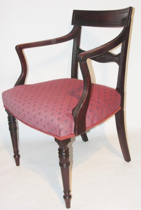 Antike georgianische Mahagoni Stühle britisch ca 1820