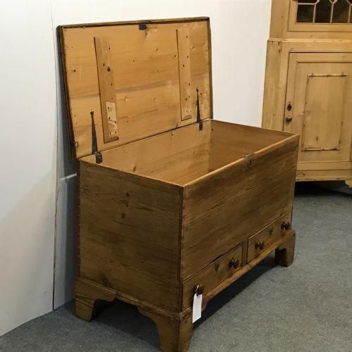 Georgianische antike Massivholz Truhe Kiste englisch ca 18. Jh