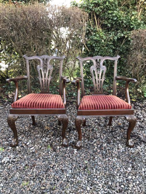 Antike britische Stühle Massivholz ca 1920
