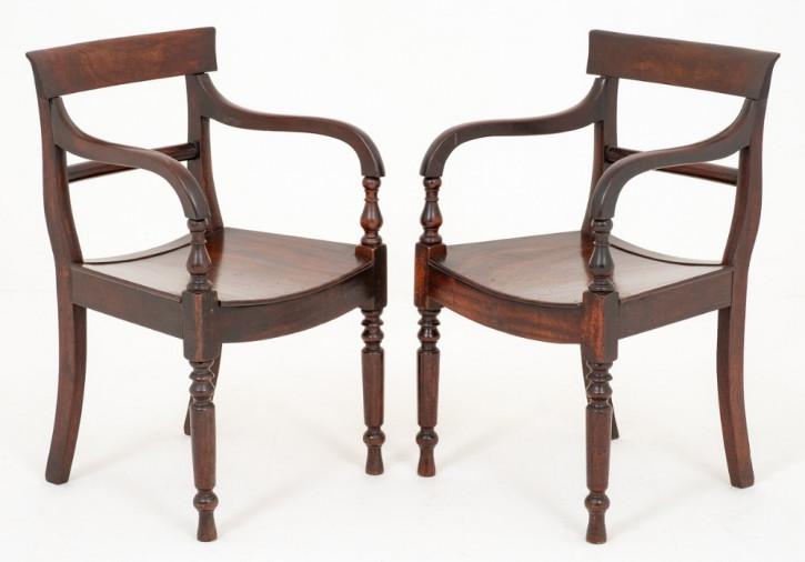 Viktorianische antike Mahagoni Stühle Küchenstühle britisch ca 1860