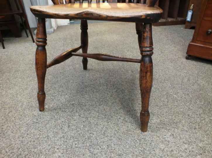 Antiker britischer Landhaus Stuhl Massivholz ca 19. Jh