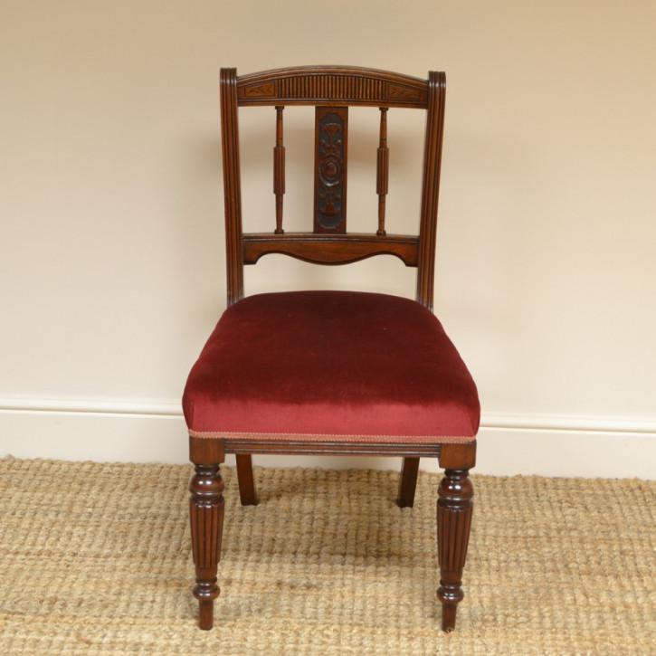 Viktorianische antike Nussbaum Stühle britisch ca 1860