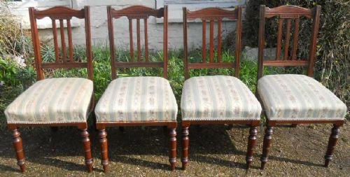 Antike edwardianische Mahagoni Stühle britisch ca 1900