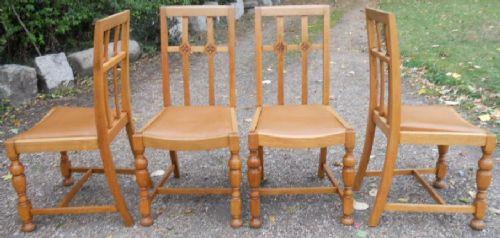 Antike britische Esszimmerstühle Eiche ca 1920