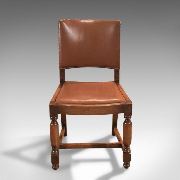 Antike edwardianische Esszimmerstühle Eiche britisch ca 17. Jh