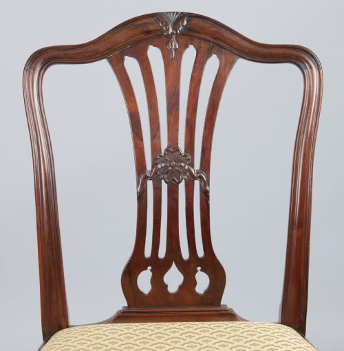 Antike britische Mahagoni Stühle viktorianisch ca 1860