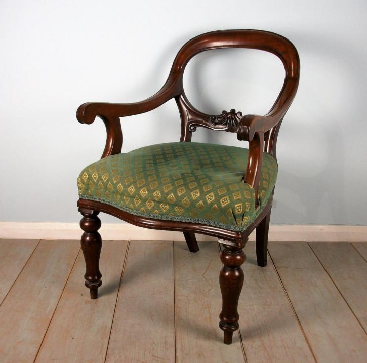 Antike britische Mahagoni Stühle viktorianisch ca 19. Jh